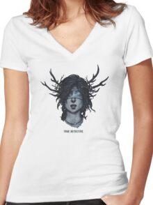 True Detective art Women's Fitted V-Neck T-Shirt