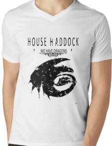 "HTTYD ""House Haddock"" Graphic Tee Mens V-Neck T-Shirt"