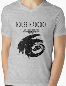 """HTTYD """"House Haddock"""" Graphic Tee Mens V-Neck T-Shirt"""