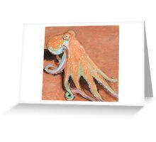 Octopus Colorful Squid Kraken Greeting Card