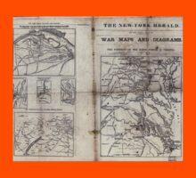 Civil War Maps 1909 War maps and diagrams Kids Tee