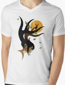 Doe Eyes Mens V-Neck T-Shirt