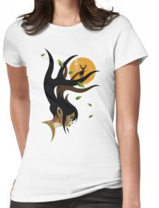 Doe Eyes Womens Fitted T-Shirt