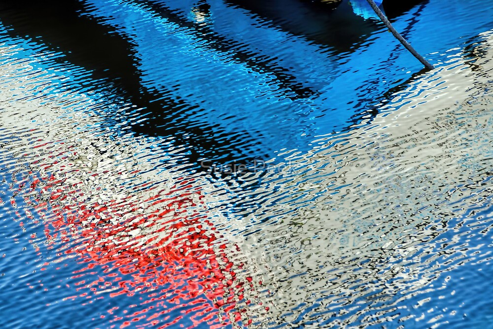 Abstract Water Reflections by Susie Peek