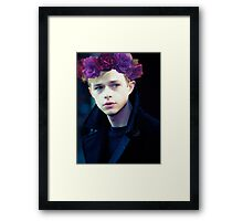 Dane DeHaan and his flower crown Framed Print