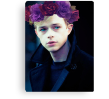 Dane DeHaan and his flower crown Canvas Print