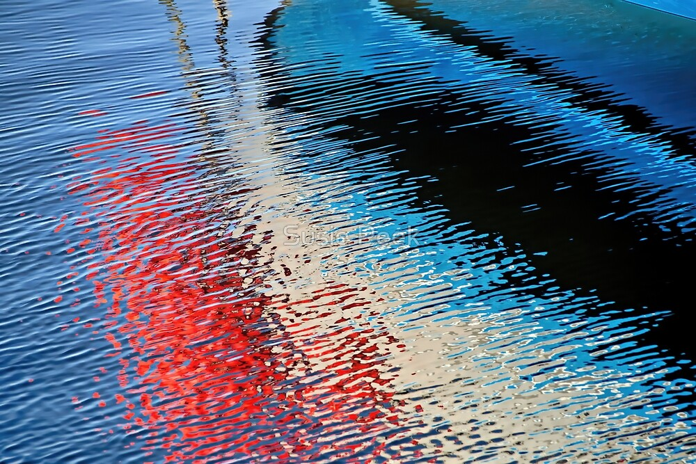 Abstract Water Reflections 2 by Susie Peek