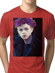 Dane DeHaan and his flower crown Tri-blend T-Shirt