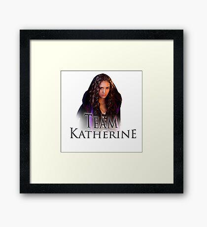 Team Katherine Vampire Diaries Framed Print