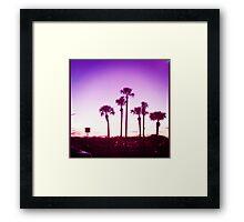 Trippy Orlando Beach Sunset Framed Print