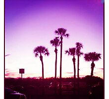 Trippy Orlando Beach Sunset Photographic Print