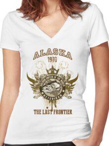 Alaska Ketchikan Women's Fitted V-Neck T-Shirt