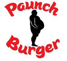 paunch burger logo by Sara Jaye