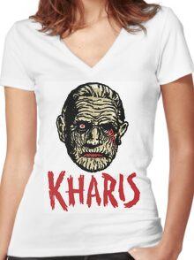 KHARIS - The Mummy!!! Women's Fitted V-Neck T-Shirt