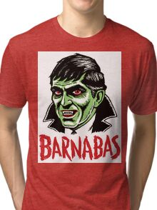 BARNABAS - Dark Shadows Tri-blend T-Shirt