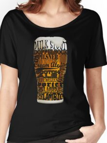 Beer Style Typography Women's Relaxed Fit T-Shirt