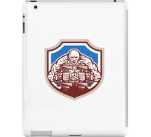 Strongman Lifting Dumbbells Shield Retro iPad Case/Skin