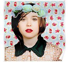 Ellen Page loves florals! Poster