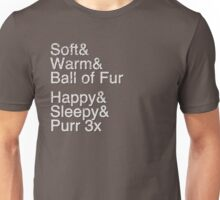 Helvetica: Soft Kitty Unisex T-Shirt