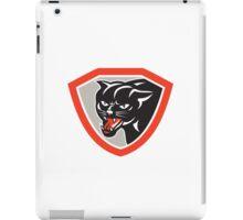 Black Cat Panther Head Shield iPad Case/Skin