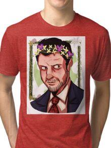 NBC Hannibal - Flower crown - Chilton Tri-blend T-Shirt