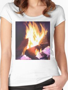 Let it Burn Women's Fitted Scoop T-Shirt