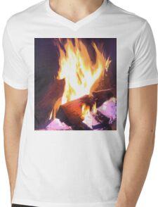 Let it Burn Mens V-Neck T-Shirt