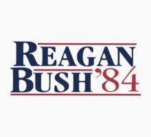 Old School Reagan Bush Presidential Logo 1984 by 8675309