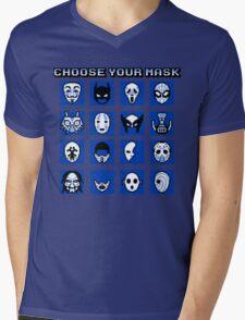 Choose Your Mask (Blue) Mens V-Neck T-Shirt
