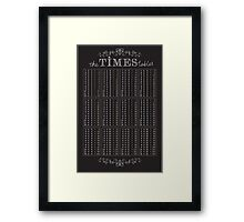 The Times Tables Framed Print