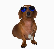 Dachshund Sausage Dog wearing Aviators Unisex T-Shirt