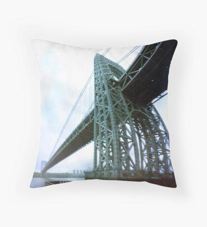 George Washington Bridge One Throw Pillow