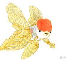 Daily Doodle 15 - Goldfish Tail by ArtbyMinda
