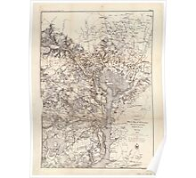 Civil War Maps 0364 Extract of military map of NE Virginia showing forts and roads Poster