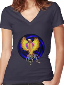 The Golden Bird Women's Fitted V-Neck T-Shirt