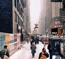 Broadway and 42nd Street 1985 by Robert Meyers-Lussier