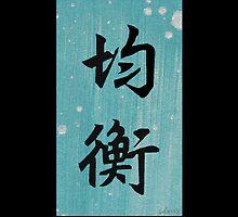 sdd Balance in Japanese Calligraphy 2G by mandalafractal