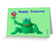 Passover Frog Greeting Card Greeting Card