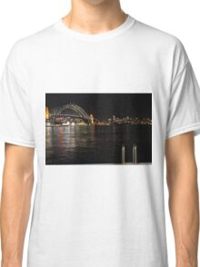 Harbour Bridge at Night Classic T-Shirt