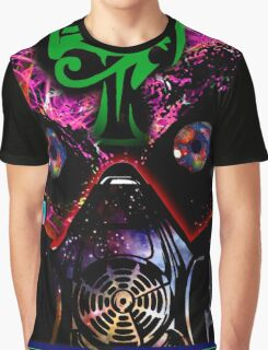 Egyptian Psychedelic Rave Face Graphic T-Shirt