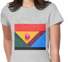 Egg abstract Womens Fitted T-Shirt