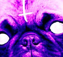 Demonic Pug  Sticker