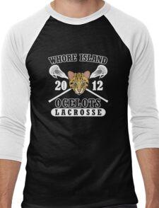 Go Ocelots! (White Fill) Men's Baseball ¾ T-Shirt