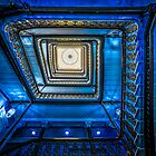 the funky blue staircase by Art Hakker Photography