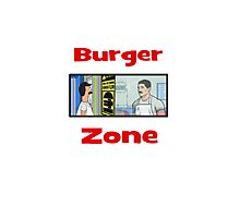 Burger Zone Photographic Print