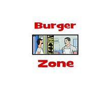 Burger Zone Photographic Print