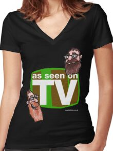 As seen on TV top Women's Fitted V-Neck T-Shirt