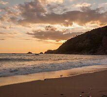 beach sunset by saaton