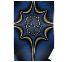Blue and Gold Abstract Poster