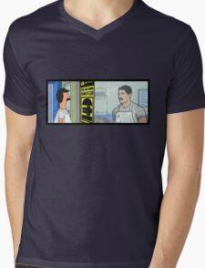 Archer's Burgers Mens V-Neck T-Shirt